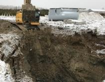 Монтаж станции очистки ливневых стоков индустриального парка «Экобалтик»