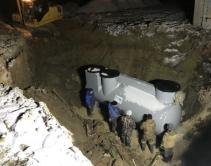Монтаж станции очистки ливневых стоков индустриального парка «Экобалтик»2