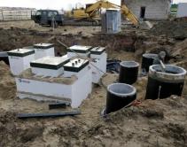 Монтаж станции очистки хоз.бытовых стоков индустриального парка «Экобалтик»2
