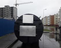 КНС в процессе монтажа_ вид с торца; диаметр (d) 2,2 метра