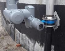запорно-регулирующая арматура с электро-приводом AUMA на воздушной распределительной системе