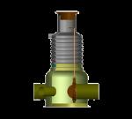 Колодец для отбора проб с запорным вентилем EuroNOK