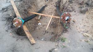 Опресовка проложенной напорной канализации
