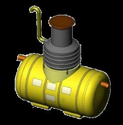 Напорный угольный фильтр доочистки EuroPEK CFR